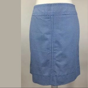 Talbots A Line Straight Pencil Sailboats Skirt 12